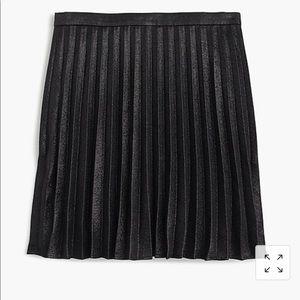 J crew black lame miniskirt, sz 6, NWT